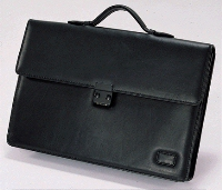 Leather travel attache bage